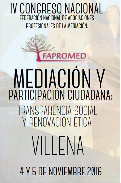 IV Congreso Nacional Mediación - Fapromed