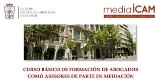 curso de mediación para abogados. mediaICAM