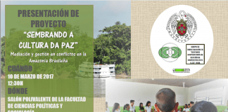 """Proyecto """"Sembrando la cultura de paz"""""""
