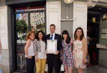 Homenaje a Julio Fuentes por apoyar la Mediación desde el Ministerio de Justicia
