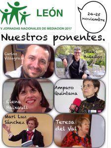 Ponentes V Jornadas Nacionales de Mediación en León