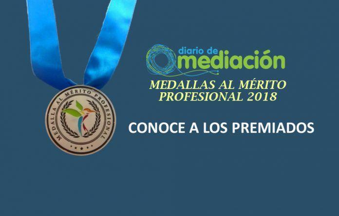 Premiados Medallas al Mérito Profesional 2018