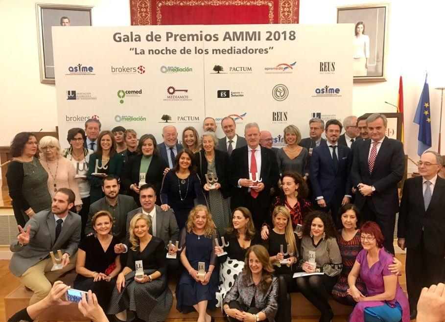 Federico Mayor Zaragoza fue uno de los galardonados en la Gala de Premios AMMI 2018.