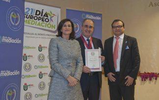 Roque de las Heras, fundador del grupo CEF-Udima premiado por Diario de Mediación