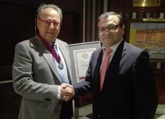 El magistrado Pascual Ortuño Muñoz junto a Gonzalo Ruiz, presidente de Diario de Mediación