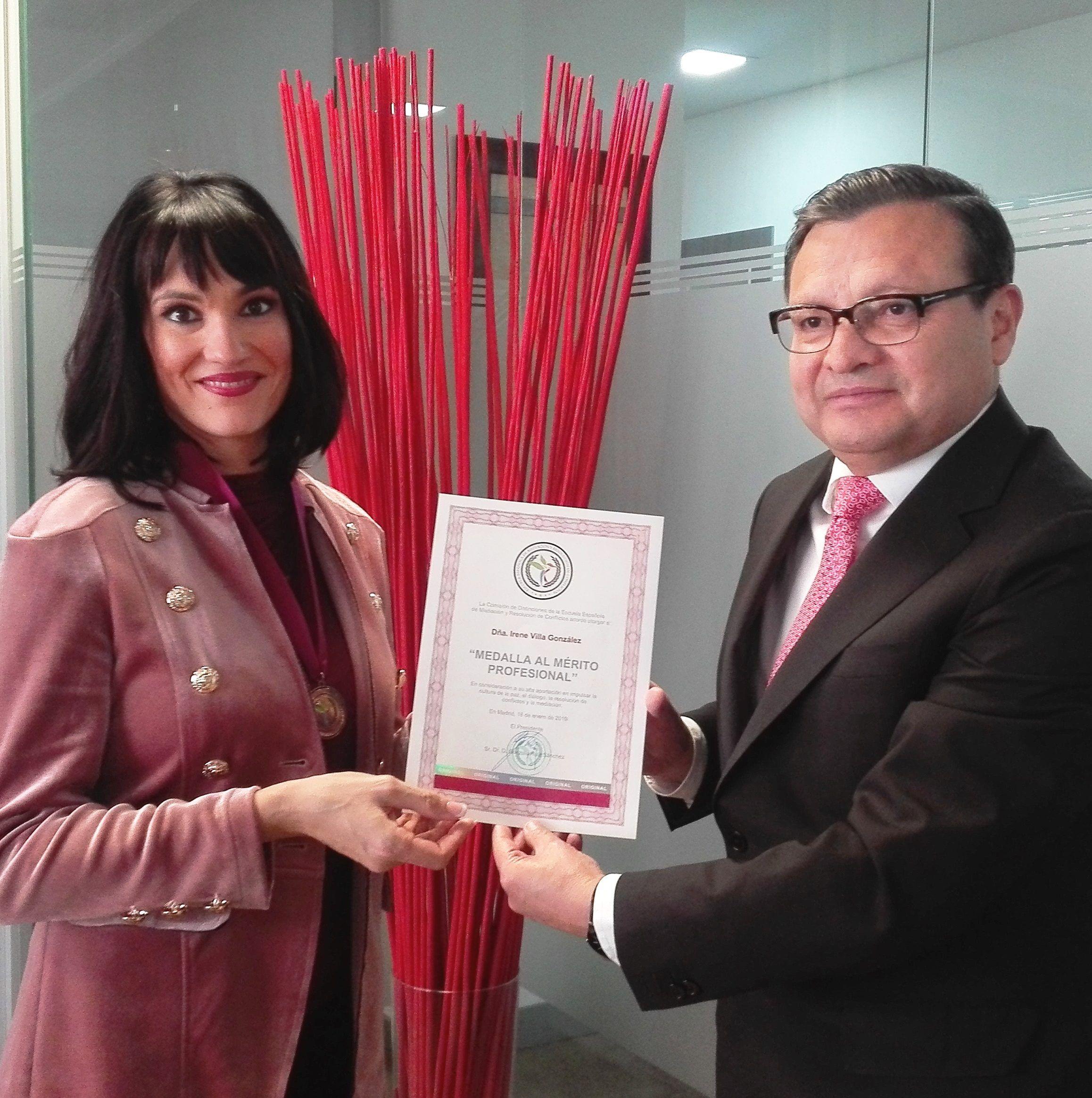 Diario de Mediación premia a Irene Villa