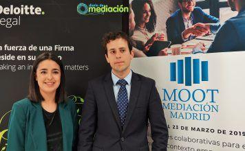 Beatriz Jiménez, y Juan Pablo García, ganadores del MOOT Mediación 2019