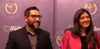 Xavi Pastor y Montse Soler, integrantes del equipo de mediación nocturna en Platja d'Aro