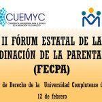 II FORUM ESTATAL COORDINACION PARENTALIDAD